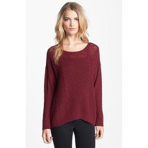 Eileen Fisher Deep Wine Merino Alpaca sweater